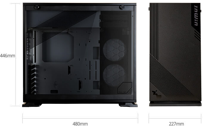 In-Win 103 Black - Full Side Tempered Glass Mid-Tower Case 15