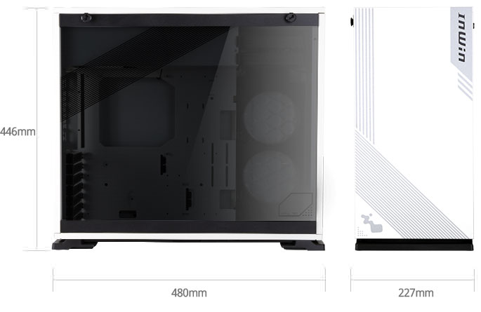 In-Win 103 White - Full Side Tempered Glass Mid-Tower Case 16