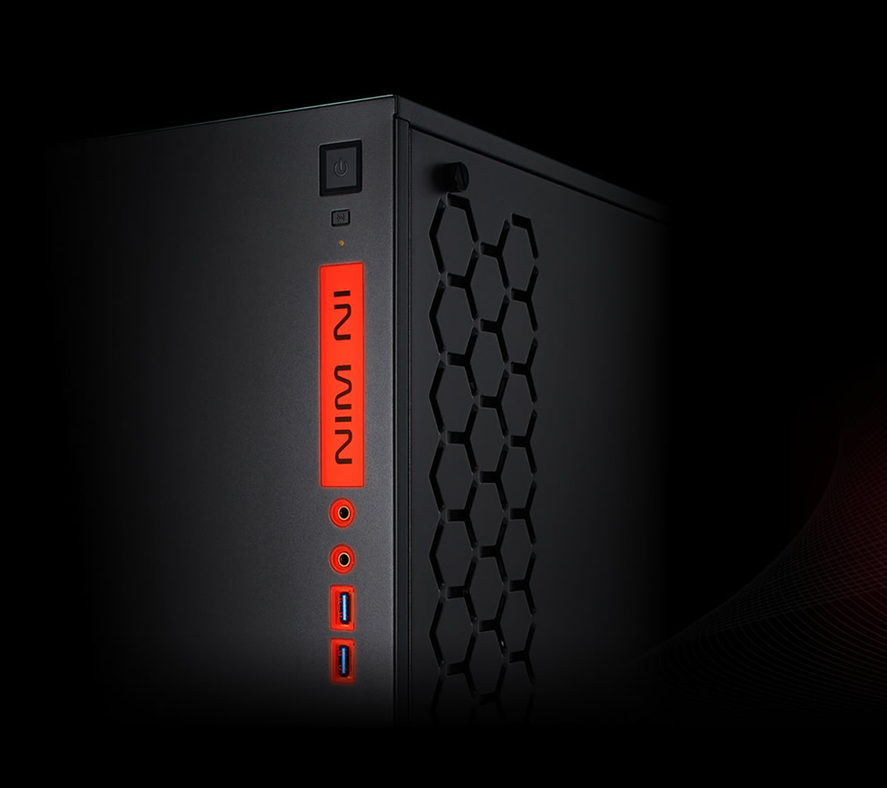 In-Win 301 Black - Full Side Tempered Glass Mid-Tower Case 2