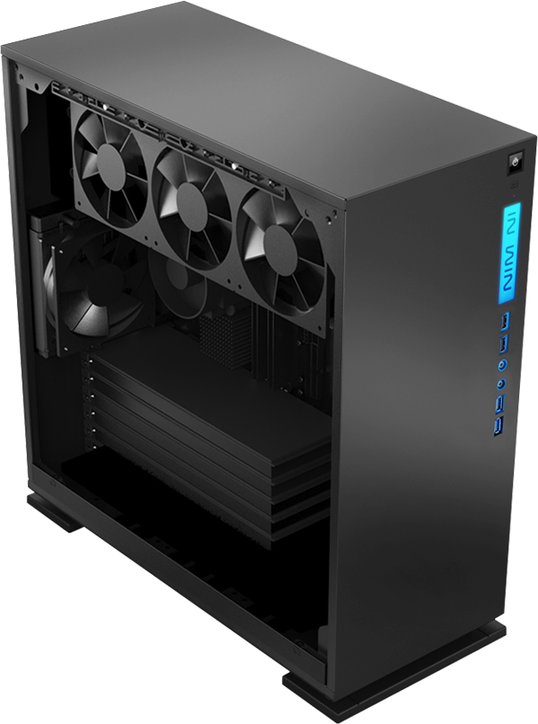 In-Win 303 White- Full Side Tempered Glass Mid-Tower Case 4