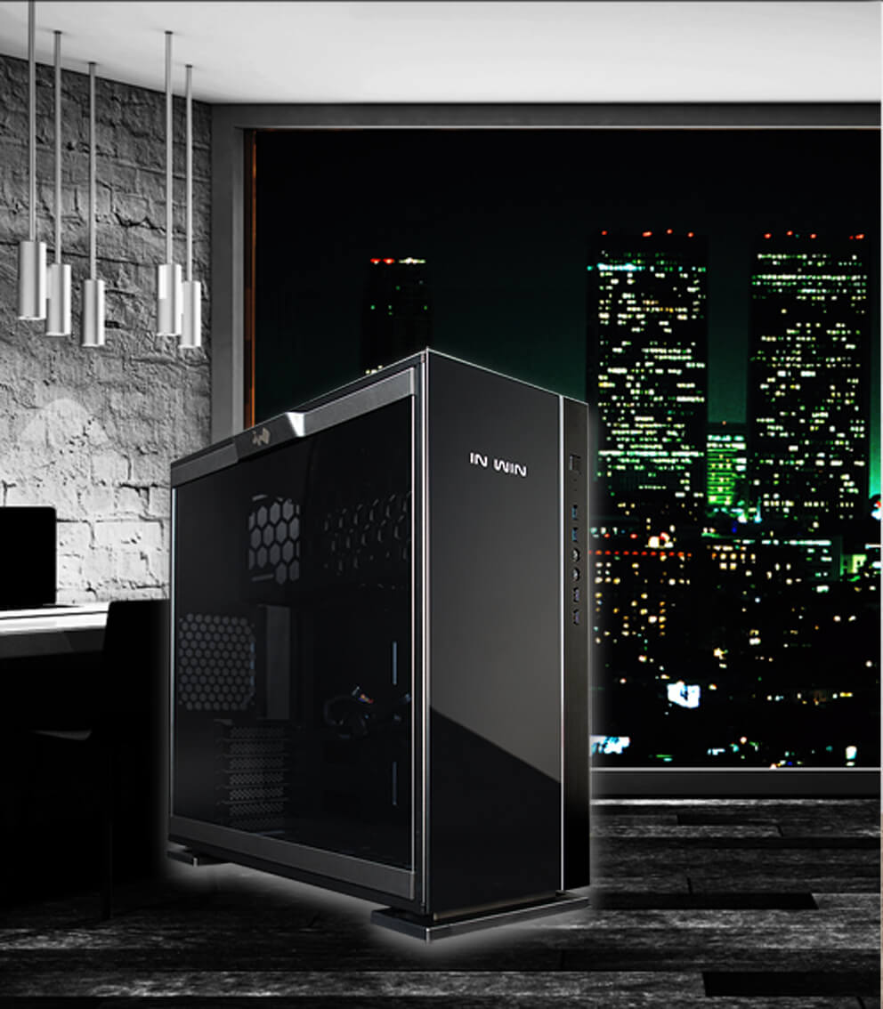 In-Win 305 Black - Full Side Tempered Glass Mid-Tower Case 2