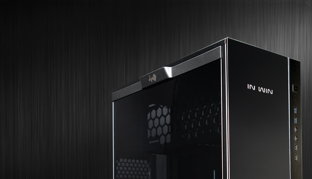 In-Win 305 Black - Full Side Tempered Glass Mid-Tower Case 1