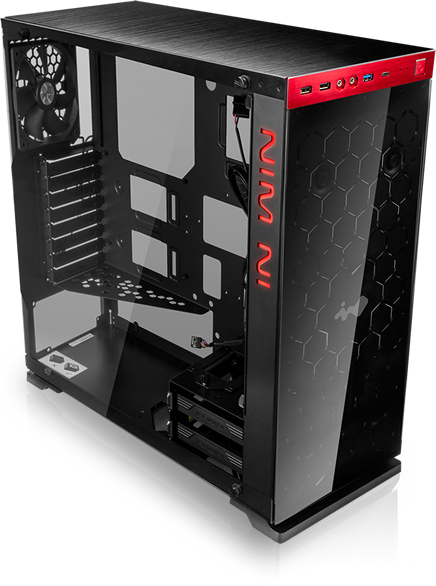 In-Win 805 Red/Black Type C - Aluminium & Tempered Glass Mid-Tower Case 16