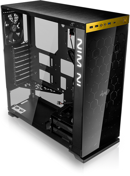 In-Win 805 Red/Black Type C - Aluminium & Tempered Glass Mid-Tower Case 14